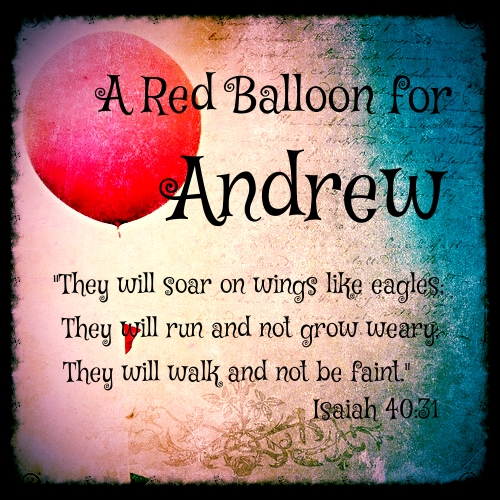 Red Balloon for Andrew (text)